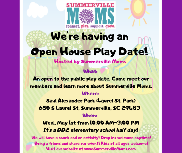 We're having an Open House Play Date! SM